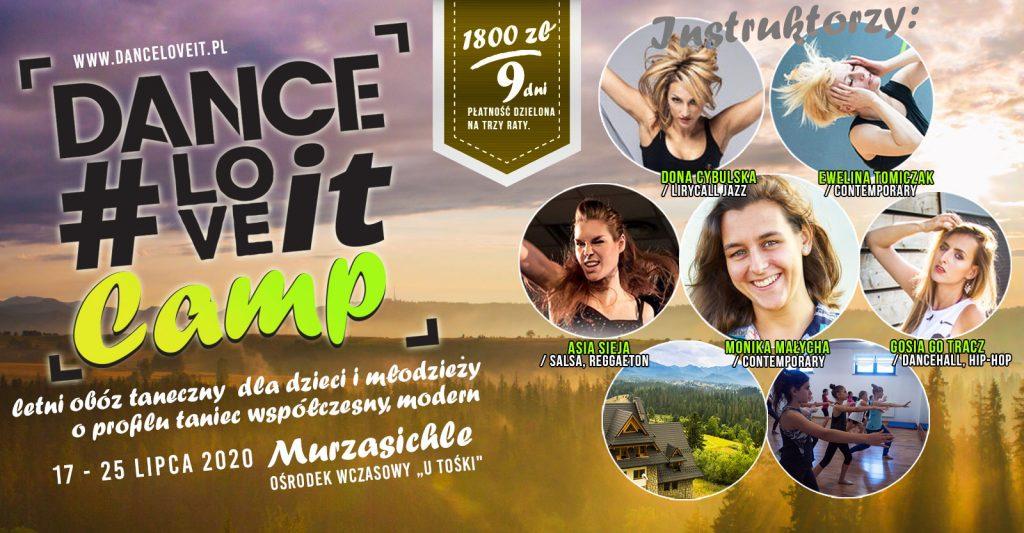 wydarzenie-danceloveit-camp-2020-baner-obóz-taneczny-kolonie-bielsko-biała-zakopane-sportowy